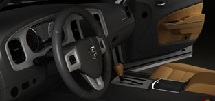 custom 3d modeling Dodge with interior