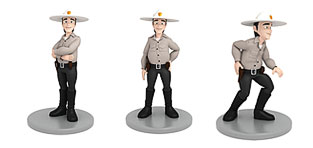 custom 3d characters Cartoon Policeman