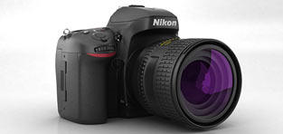 custom 3d modeling Nikon D600 Camera