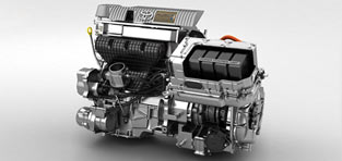 custom 3d animation Toyota Hybrid Engine