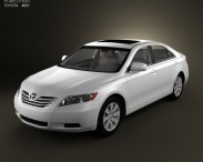 3D model of Toyota Camry (XV40) 2008 with HQ Interior