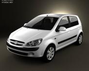 3D model of Hyundai Getz 2008