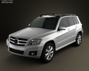 3D model of Mercedes-Benz GLK-Class 2010