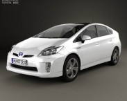 3D model of Toyota Prius 2010