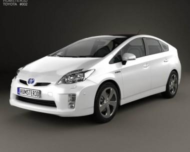 3D model of Toyota Prius 2010