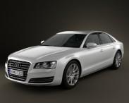 3D model of Audi A8 (D4) 2010