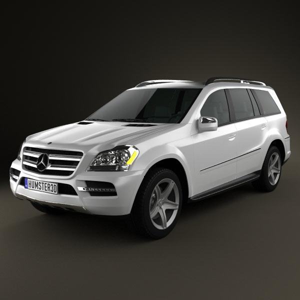 3D model of Mercedes-Benz GL-Class 2010