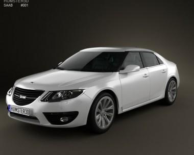 3D model of Saab 9-5 2010