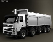 3D model of Volvo FM Truck 10×4 Dumper 2010