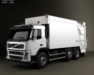 3D model of Volvo FM Truck 6×2 Garbage 2010