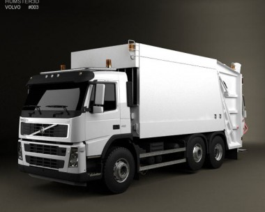 3D model of Volvo FM Truck 6×2 Garbage 2010
