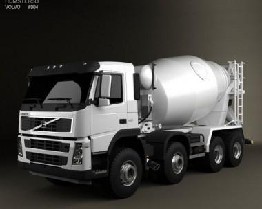 3D model of Volvo FM Truck 8×4 Mixer 2010