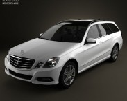 3D model of Mercedes-Benz E-Class 2010 Estate