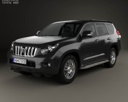 3D model of Toyota Land Cruiser Prado 5-door 2010
