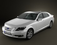 3D model of Lexus LS (XF40) 600h 2010