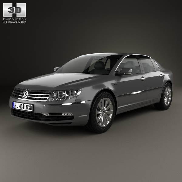 3D model of Volkswagen Phaeton 2011