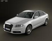 3D model of Audi A6 (C6) sedan 2011