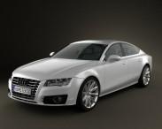 3D model of Audi A7 Sportback 2010