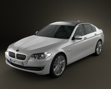 3D model of BMW 5 series sedan 2011