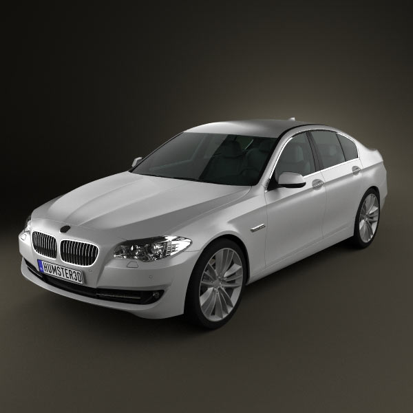 BMW 5 series sedan 2011 3d car model