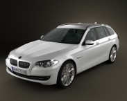 3D model of BMW 5 series touring 2011