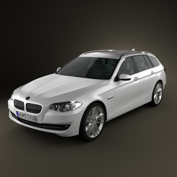 BMW 5 series touring 2011 3d car model