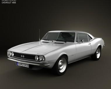 3D model of Chevrolet Camaro SS 1967