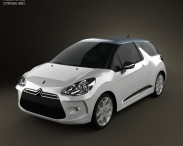 3D model of Citroen DS3 2011