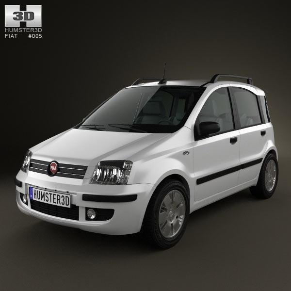 Fiat Panda 3d car model