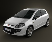 3D model of Fiat Punto Evo 5-door 2010