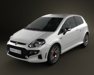 3D model of Fiat Punto Evo Abarth