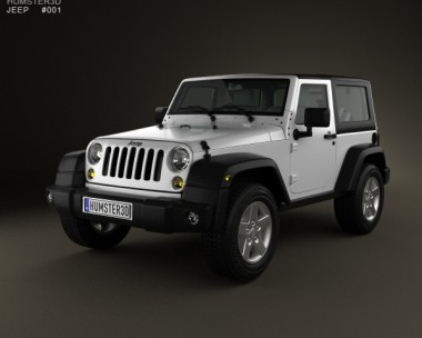 3D model of Jeep Wrangler Rubicon Hardtop 2010