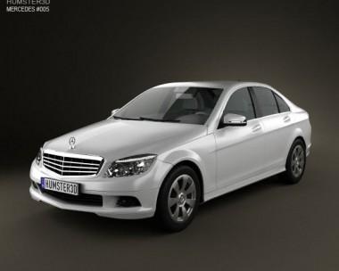 3D model of Mercedes-Benz C-Class 2007