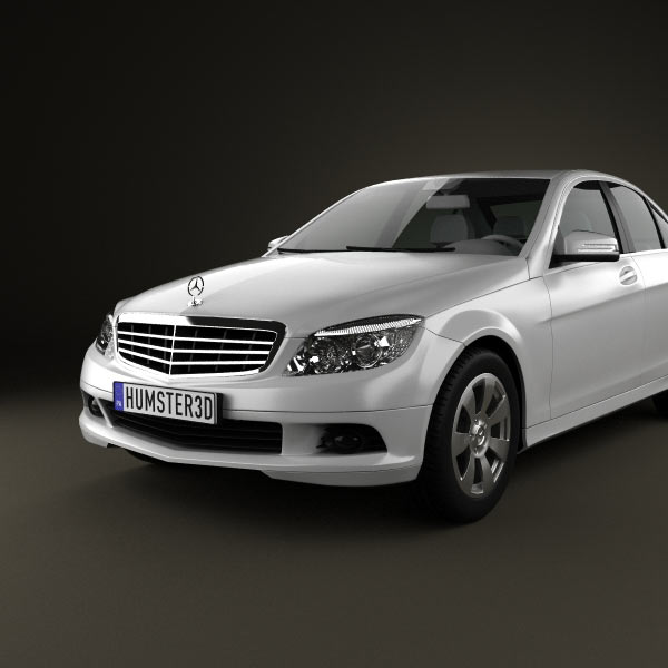 mercedes benz c class 2007 3d model humster3d