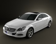 3D model of Mercedes-Benz CLS-Class (W218) 2012