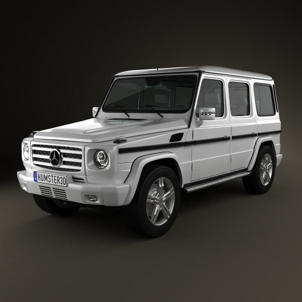 mercedes benz g class 2011 3d model humster3d