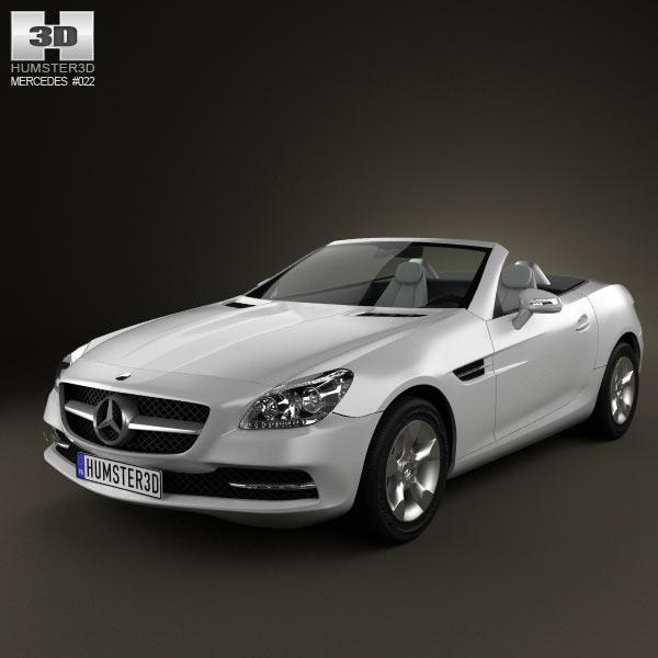 3D model of Mercedes-Benz SLK-Class (R172) 2012