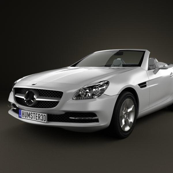 Mercedes benz slk class r172 2012 3d model humster3d for Mercedes benz 2012 models