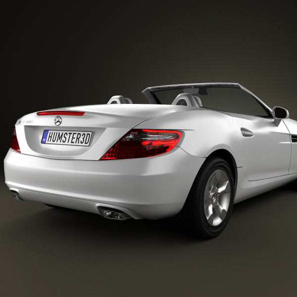 mercedes benz slk class r172 2012 3d model humster3d