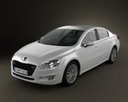 3D model of Peugeot 508 saloon 2011