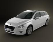 3D model of Peugeot 508 SW 2011