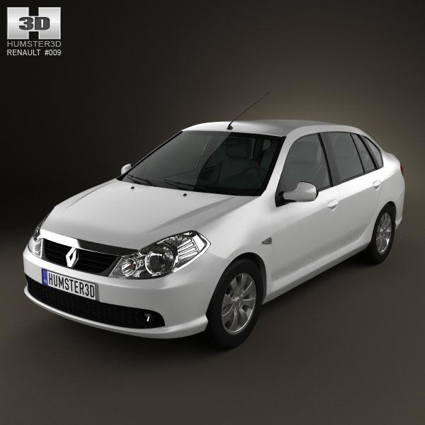 Renault Symbol 2010 3d car model
