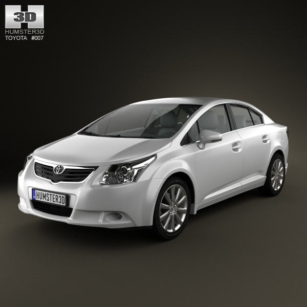 Toyota Avensis sedan 3d car model