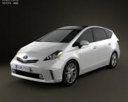 3D model of Toyota Prius V 2011