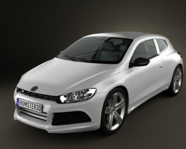 3D model of Volkswagen Scirocco R 2010