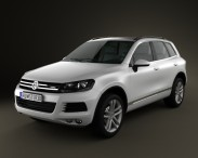 3D model of Volkswagen Touareg hybrid 2010