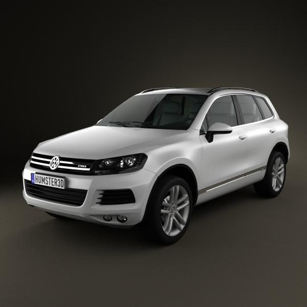 3D model of Volkswagen Touareg hybrid 2010