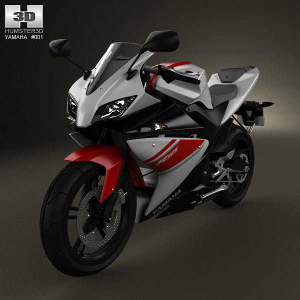Yamaha YZF-R125 3d car model