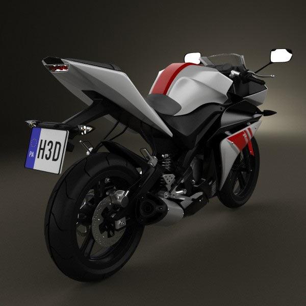 Yamaha YZF-R125 2008 3d model
