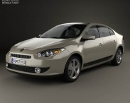 3D model of Renault Fluence 2010